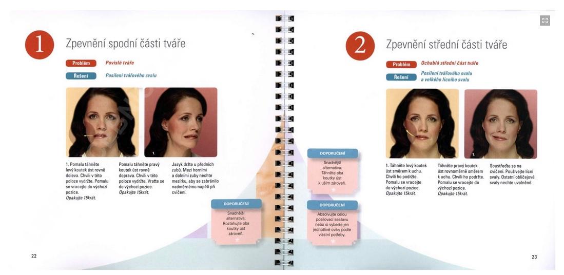 GYMNASTIKA OBLIČEJE- Lifting obličeje (+ DVD)